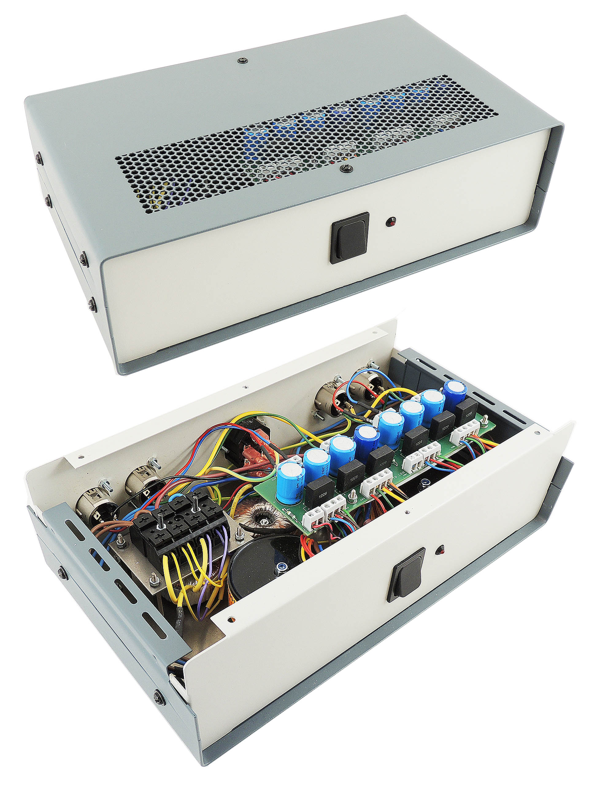 Custom external power supply for two old Line 6 Pro series effects units