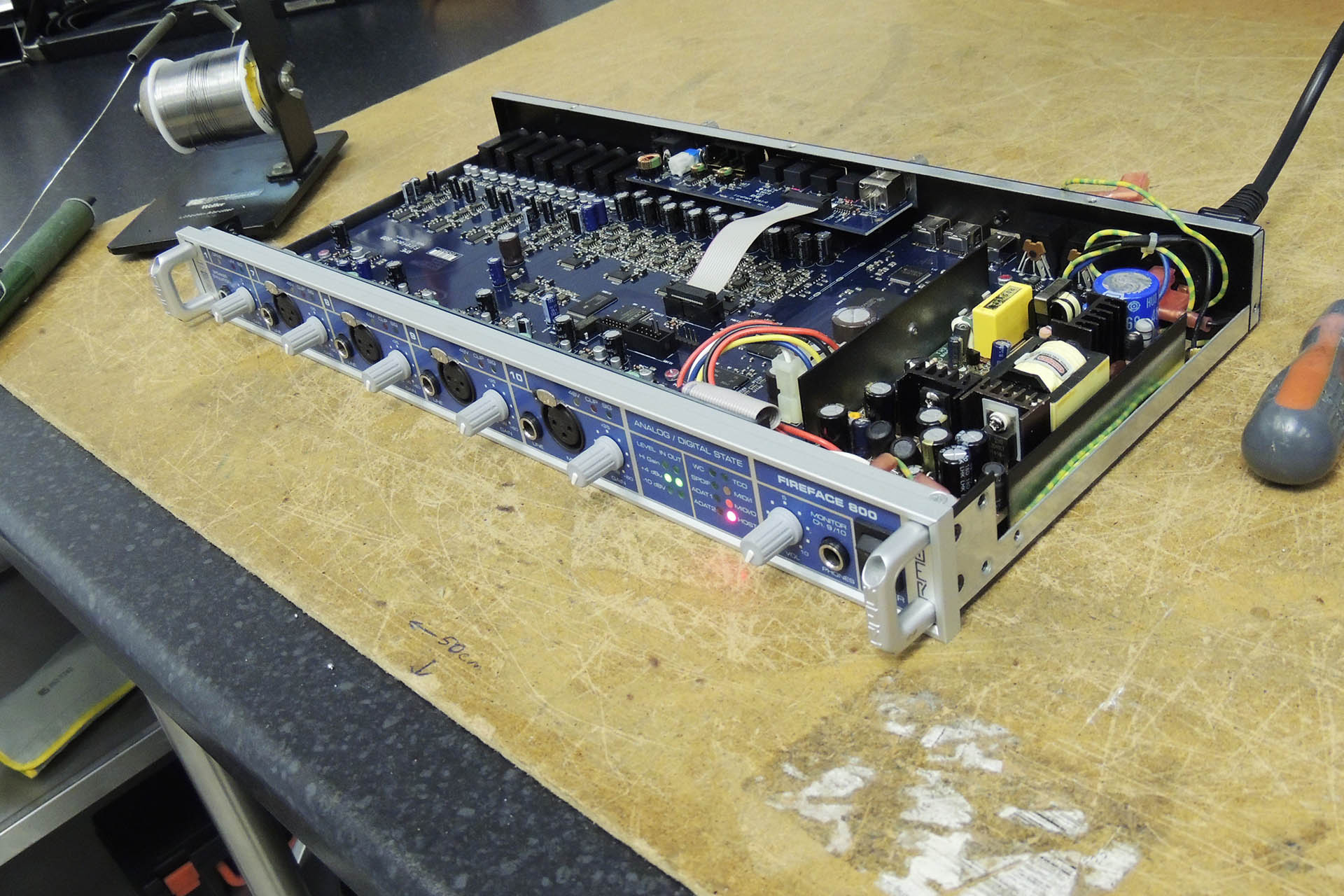 Fireface 800 Power Supply repair at Plasma Music