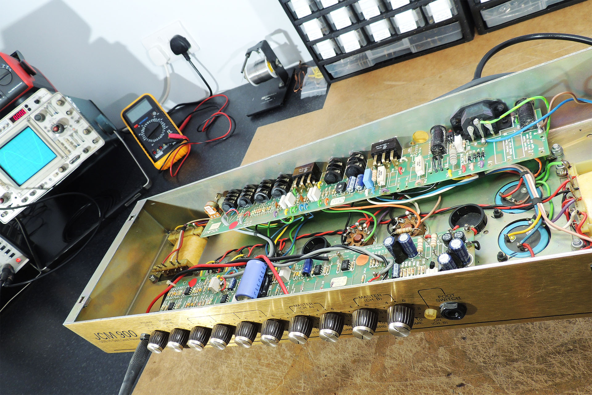 Marshall 4502 re-valve and bias at Plasma Music - amp repairs in Hertfordshire