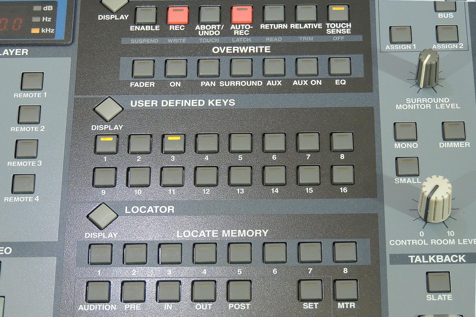 Yamaha DM2000 User Defined Keys at Plasma Music