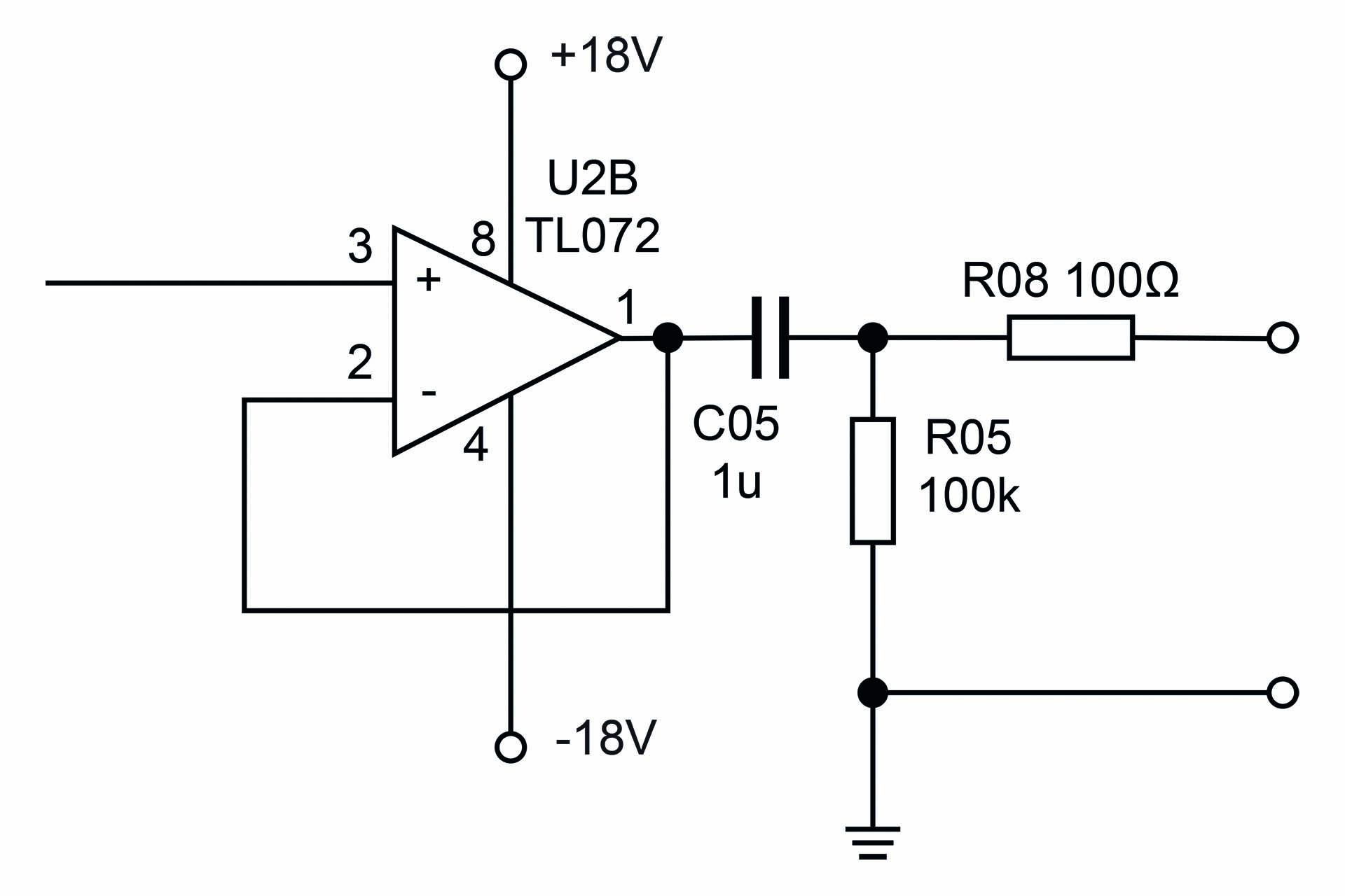 Output impedance schematic