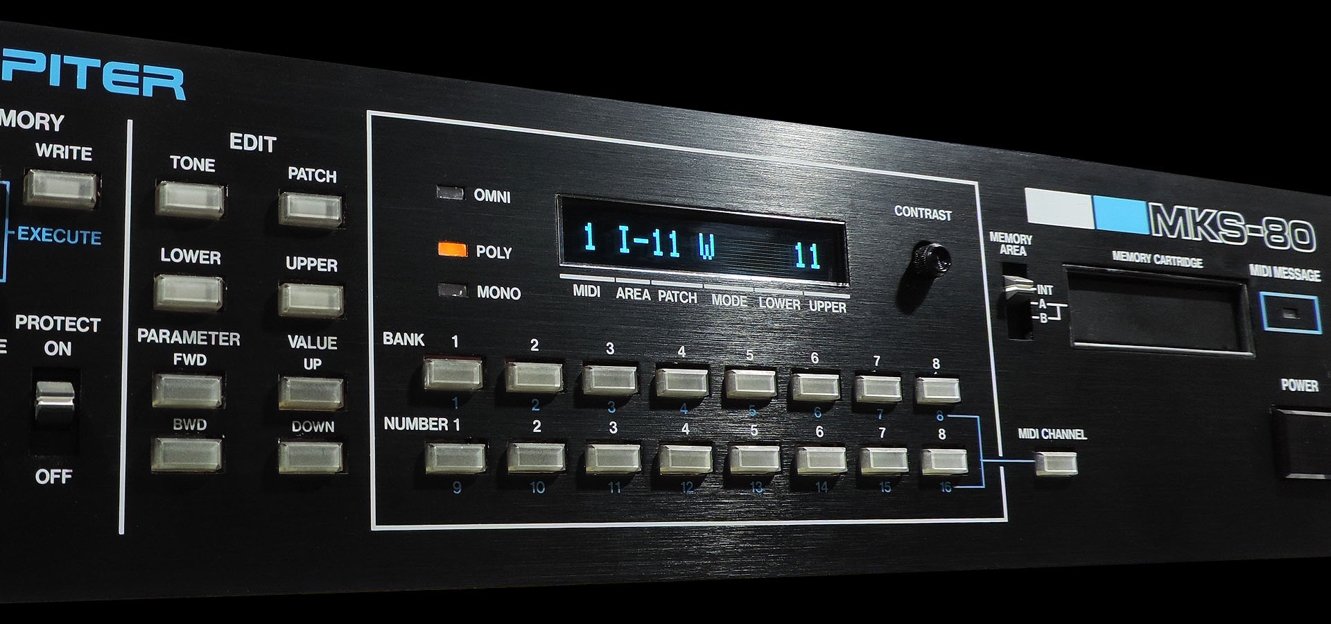 Roland MKS-80 with OLED module
