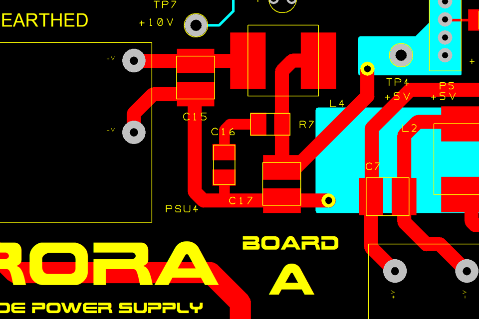 Preview of Aurora PCB - design in progress