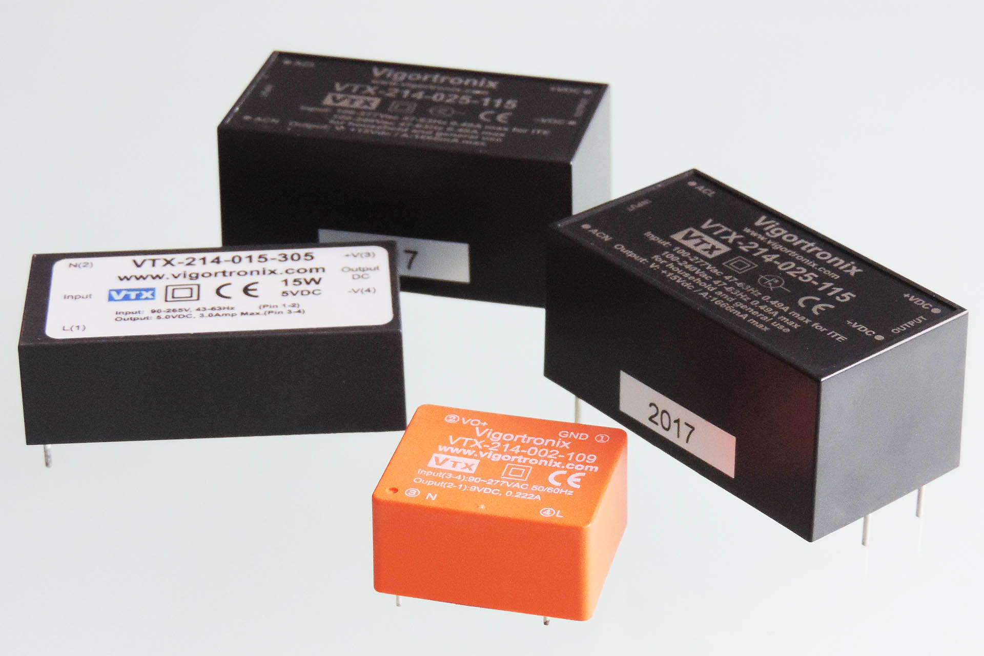 Vigortronic AC-DC converters used in the Aurora project