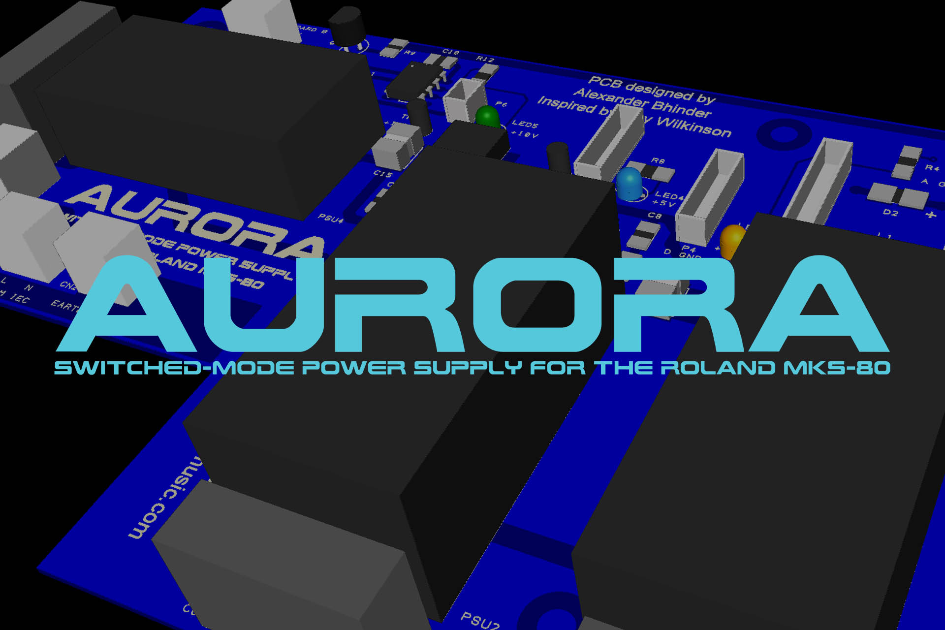 Aurora - Switch Mode Power Supply for the Roland MKS-80
