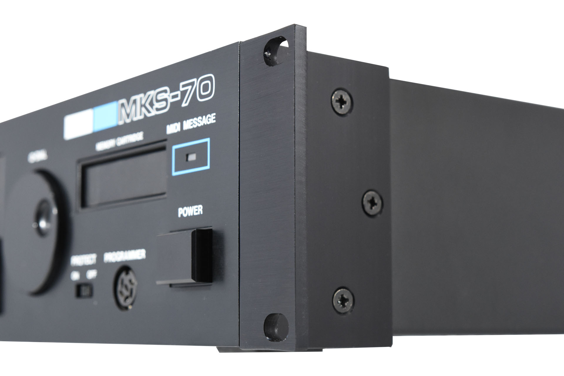 RE-MKS-70 Replacement Rack Ears Fitted to Roland MKS-70 at Plasma Music