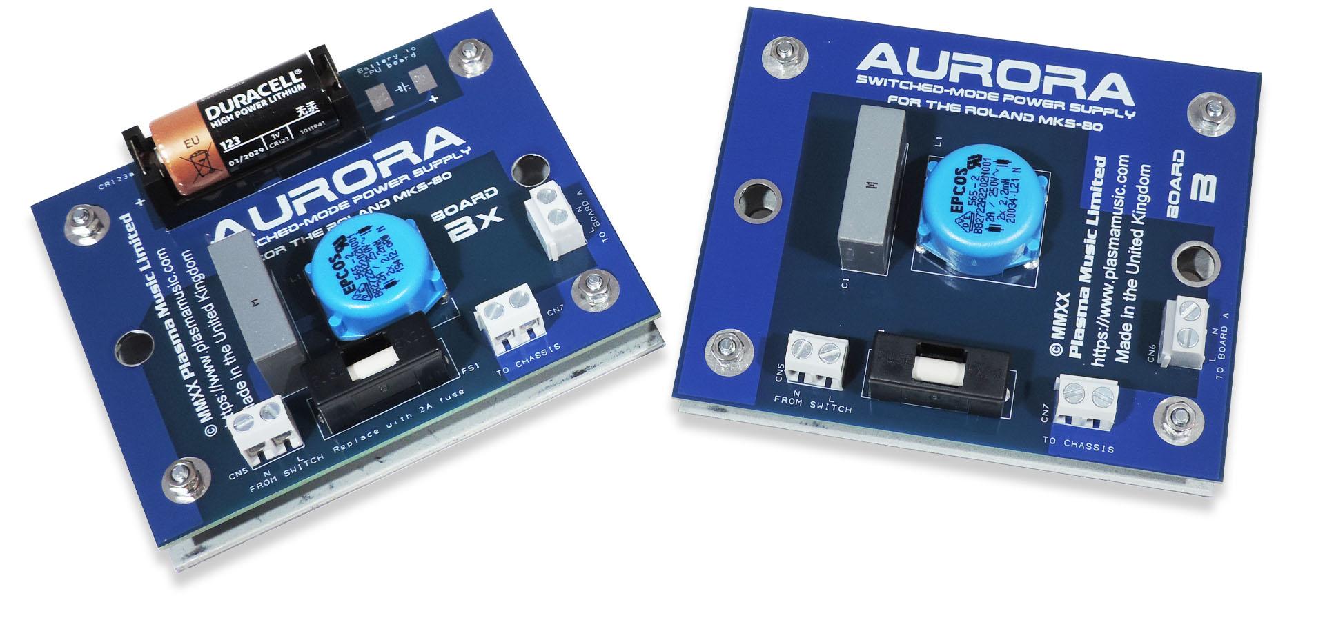 Aurora Board B and new Board Bx 2
