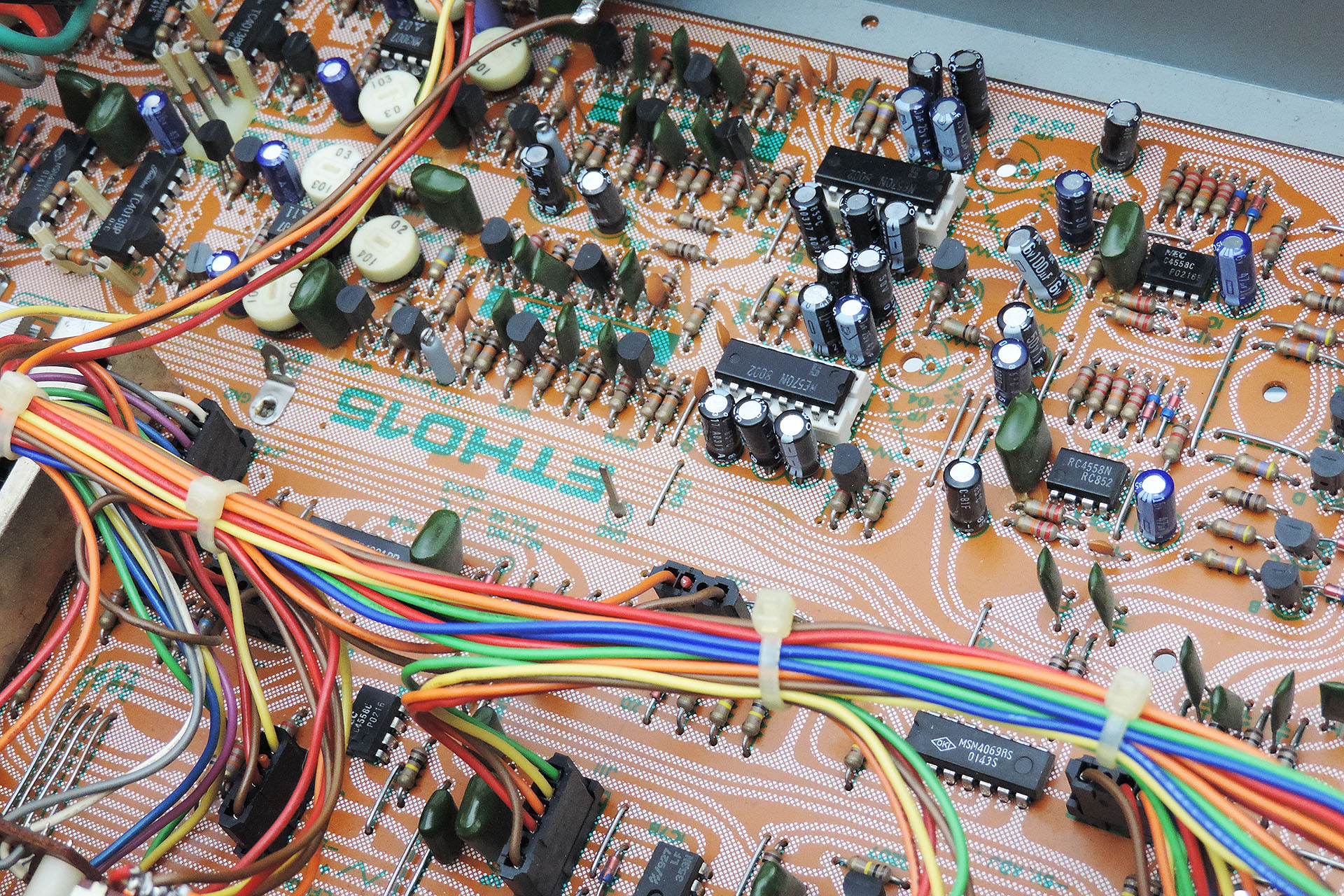 A classic example of unreadable PCBs from the seventies