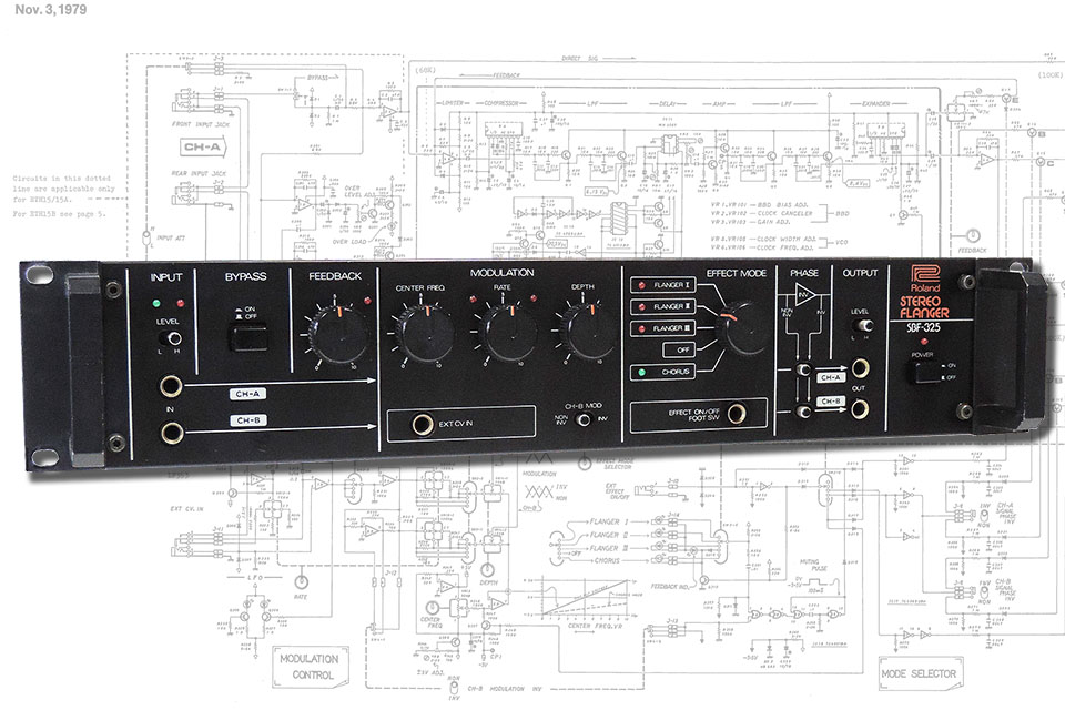 The Roland SBF-325 stereo analogue flanger / chorus