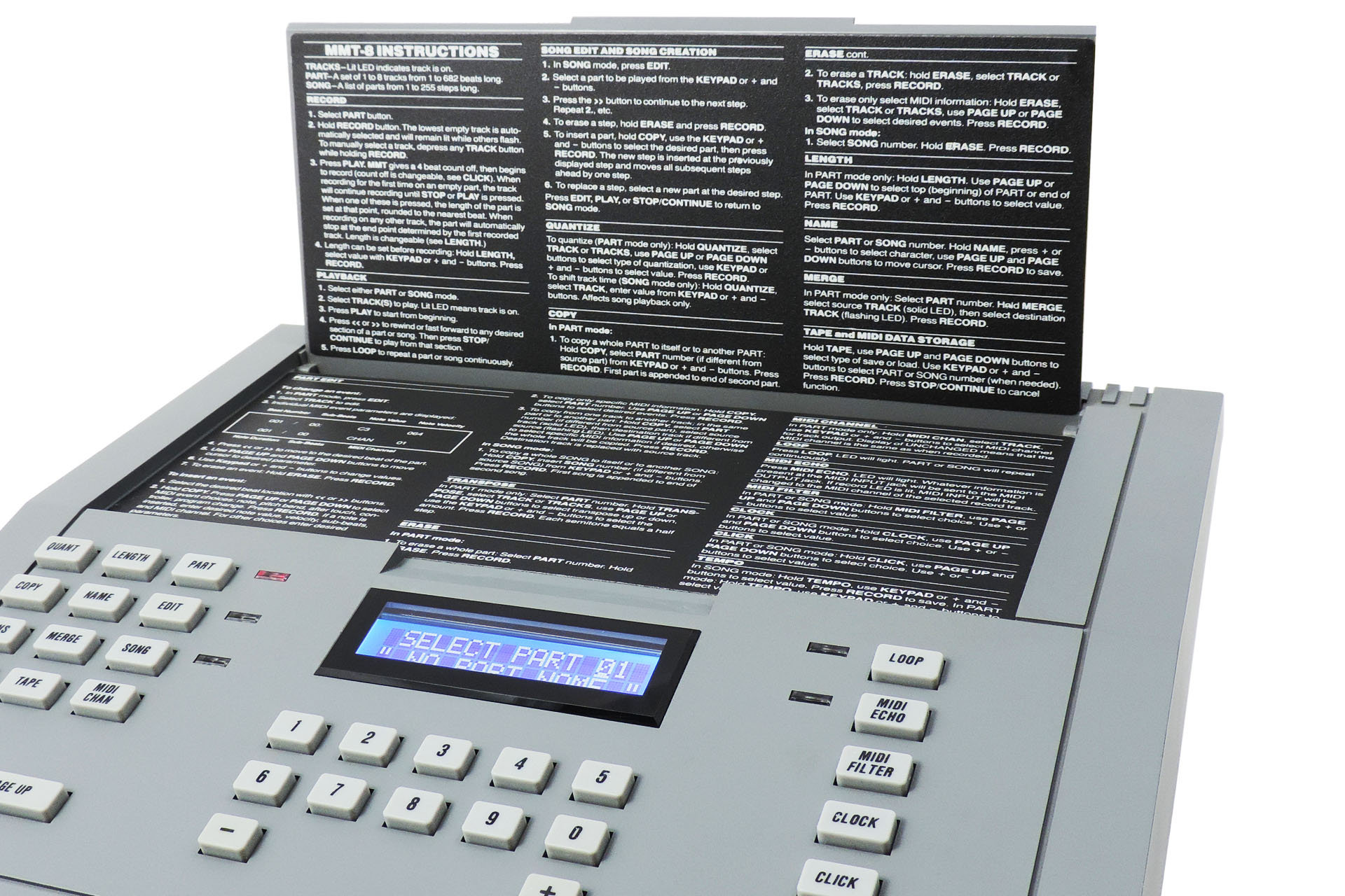 The unique Alesis MMT-8 built-in user manual