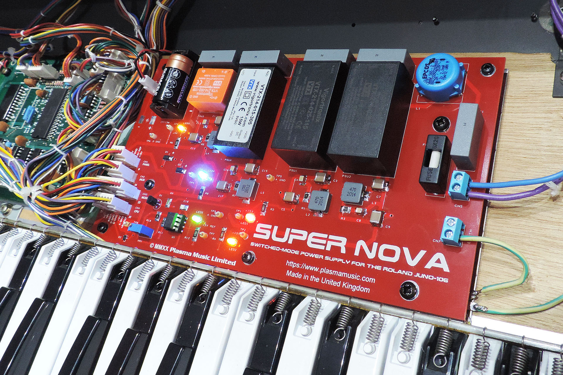 Super Nova installed and powered up