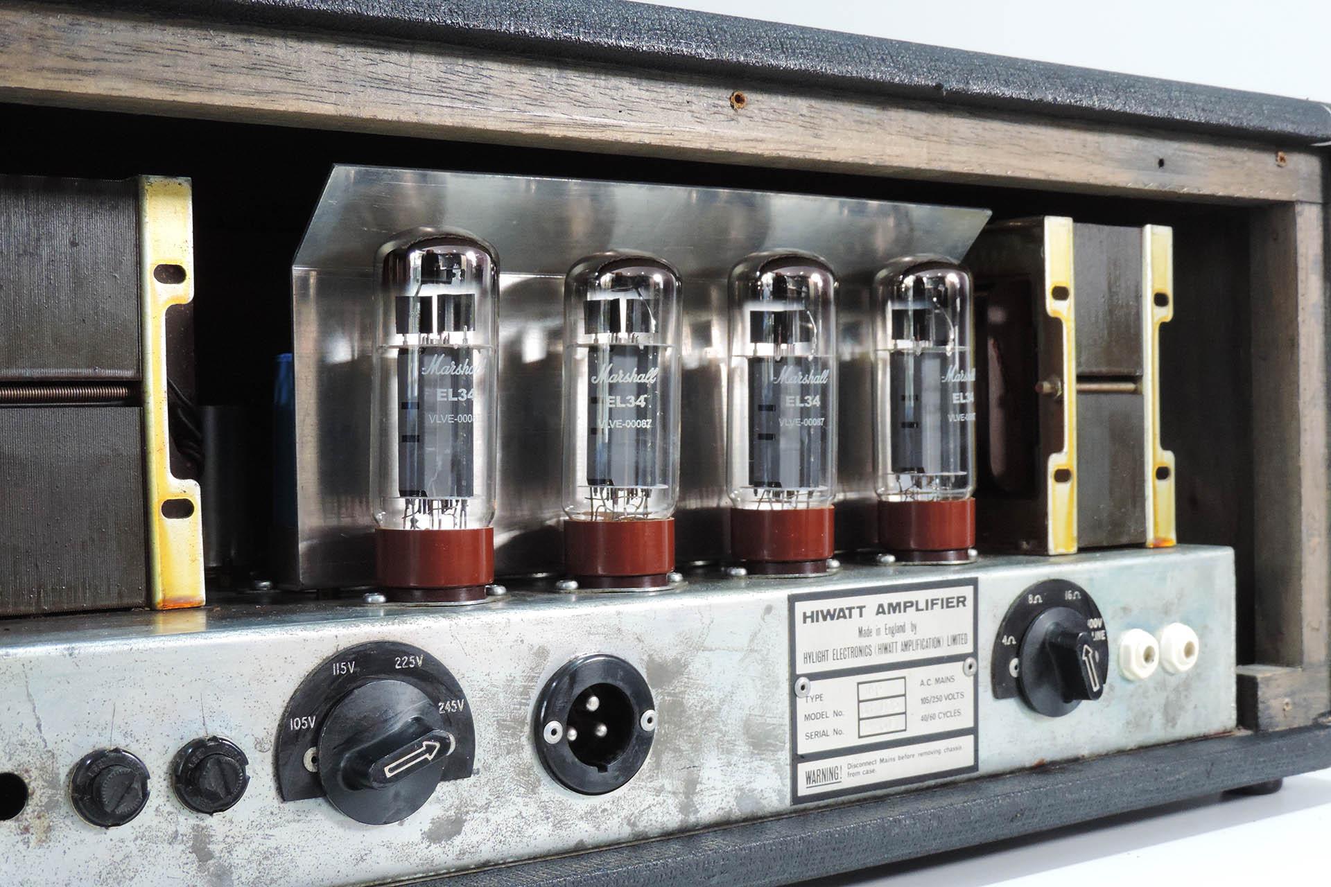 Hiwatt DR-103 with Marshall branded EL34s