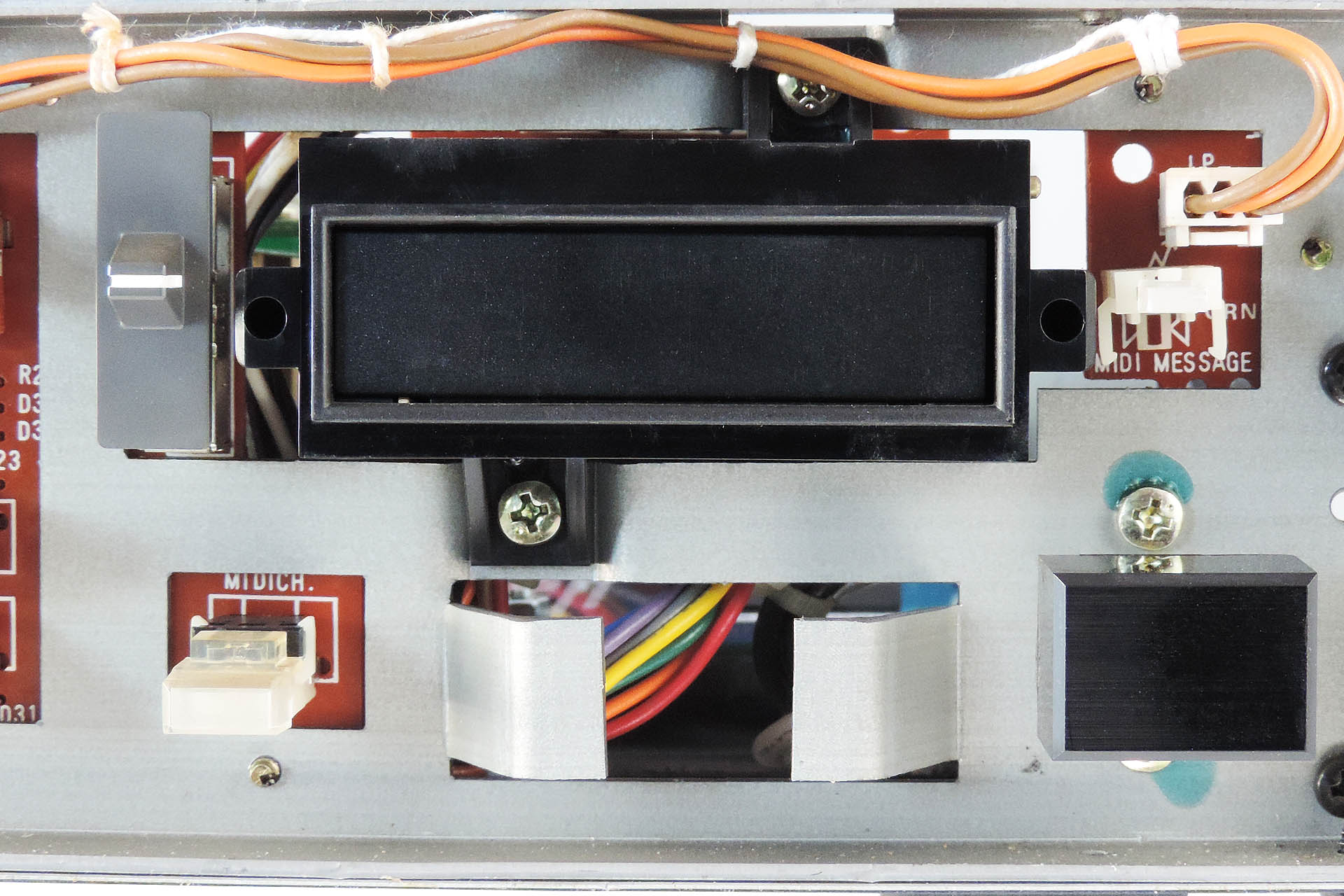 MKS-80 Front Data Cartridge Slot Assembly Attached to Front Metal Chassis